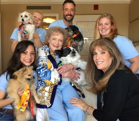 Helen Woodward Animal Center Adoptable Dogs and Staff Meet Acting Legend Betty White on BEST IN SHELTER WITH JILL RAPPAPORT