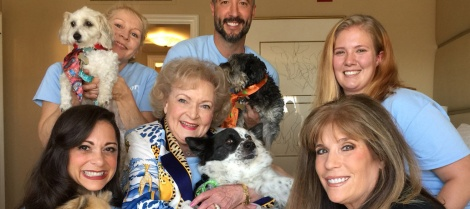 Betty White Meets Adoptable Dogs